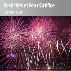 Festivités et feu d'Artifice sur le Lac de Savines - saison 2017